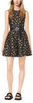 Michael Kors Crystal-Embellished Silk-Jacquard Dress