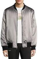 Ovadia & Sons OS-1 Reversible Satin Bomber Jacket, Black/Gray