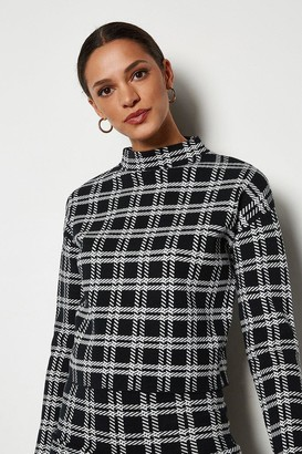 Karen Millen Bold Check Knit Jumper