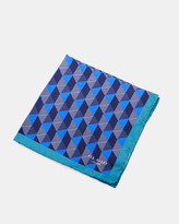 Geo Print Silk Pocket Square