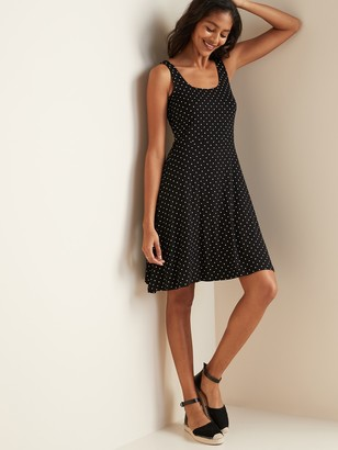 Old Navy Sleeveless Fit & Flare Jersey Dress for Women