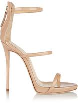 Giuseppe Zanotti Harmony Patent-leather Sandals - Beige