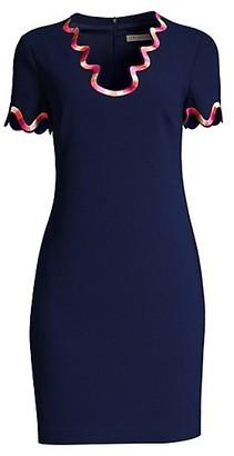 Trina Turk Flourish Swirl Trim Dress
