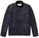 Private White V.C. - Track Waxed-cotton Jacket - Midnight blue