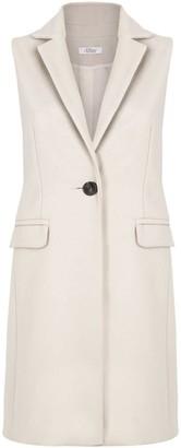 Allora Wool Cashmere Sleeveless Coat - Bisque