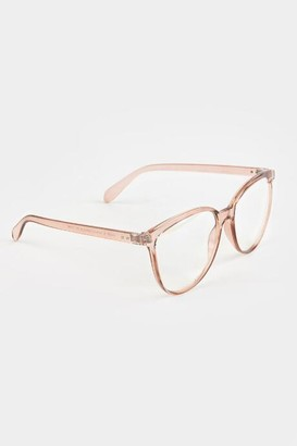 francesca's Jade Blue Light Glasses - Rose