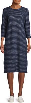 Lord & Taylor Stripe Cotton-Blend Midi Dress