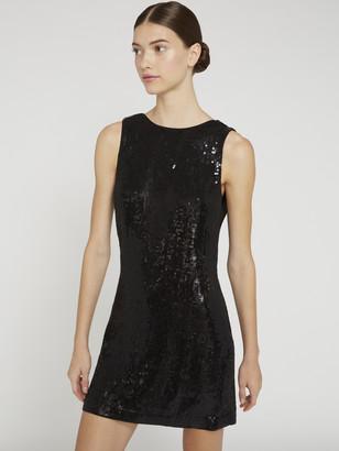 Alice + Olivia Kamryn Sequin Two Way Mini Dress
