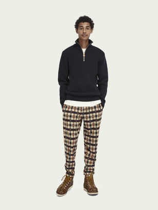 Scotch & Soda Wool-blend half-zip knit pullover   Men