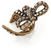 Marc Jacobs Crystal Bow Wrap Ring