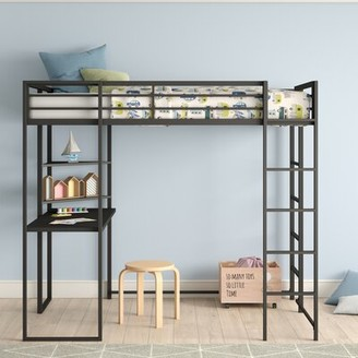 Bourake Loft Bed with Bookcase Mack & Milo Size: Twin