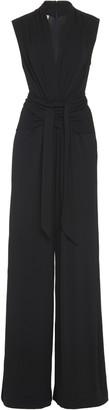 Michael Kors Wrap-Effect Stretch-Jersey Wide-Leg Jumpsuit