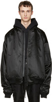 Juun.J Black Oversized Bomber Jacket