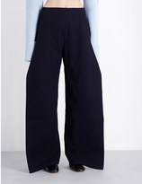Jacquemus Wide-leg wool-blend trousers