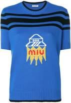 Miu Miu UFO logo knit top
