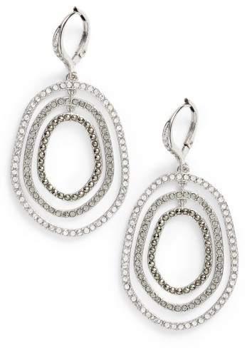 Judith Jack Women's Orbital Crystal Drop Earrings