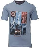 Ben Sherman Boys London Photo T-Shirt Stone Blue