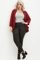 Forever 21 FOREVER 21+ Plus Size Coated Skinny Jeans
