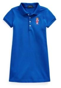 Polo Ralph Lauren Little Girls Polo Bear Stretch Mesh Polo Dress