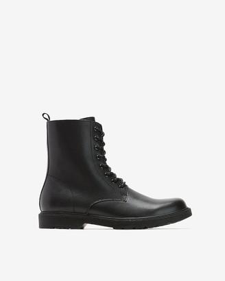 Express Black Combat Boots