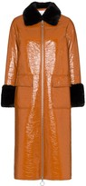Thumbnail for your product : Stand Studio Kristen patent mid-length coat