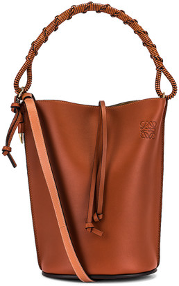 Loewe Gate Bucket Handle Bag in Rust | FWRD