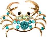 Generic Navachi 18k Gold Plated Crystal Sea Crab Brooch Pin