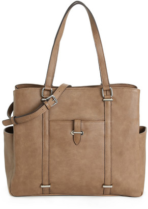 Kelly & Katie Women's Elli Tote Faux Leather Satchel In Color: Mushroom Bag From Sole Society