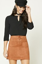 Forever 21 FOREVER 21+ Cutout Front Blouse