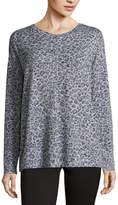 Liz Claiborne Long Sleeve T-Shirt-Womens - Tall