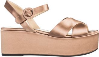 Prada Opanca Wedge Sandals