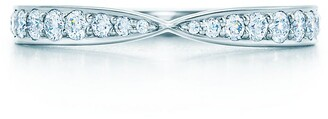 Tiffany & Co. Harmony ring in platinum with bead-set diamonds