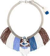 Rada' Radà beaded fringes short necklace