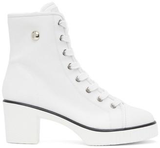 Giuseppe Zanotti White Kana Heeled Boots