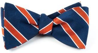 Tie Bar Honor Stripe Orange Bow Tie