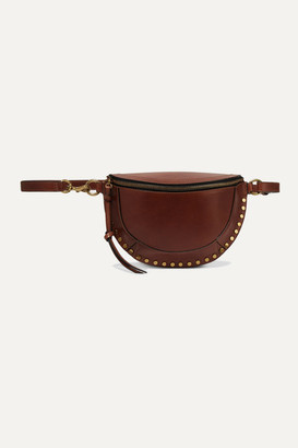 Isabel Marant Skano Studded Leather Belt Bag - Brown