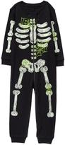 Gymboree Glow Skeleton 1-Piece Pajamas