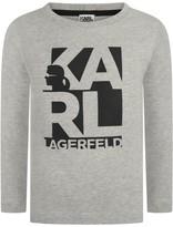 Karl Lagerfeld Boys Grey Branded Jersey Top
