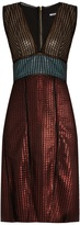 House of Holland Chain-mail knit dress