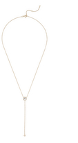 Ef Collection Round Topaz and Diamond Lariat Necklace