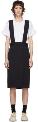 Comme des Garçons Comme des Garçons Navy Wool Suspender Skirt
