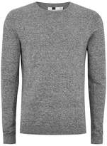 Topman Gray Black and White Twist Side Ribbed Sweater
