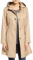 CeCe 'Ellie' Turn Key Raincoat with Detachable Hood