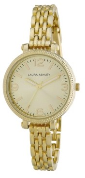 Laura Ashley Ladies' Goldtone Link Bracelet Watch