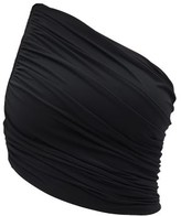 Thumbnail for your product : Norma Kamali Diana One-shoulder Ruched Bikini Top - Black