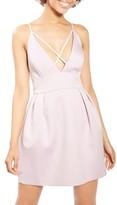 Topshop Women's Cross Front Minidress