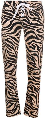 Laneus Tigre Print Skinny Trousers