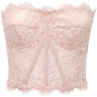 Dolce & Gabbana Lace Sheer Bustier Crop Top