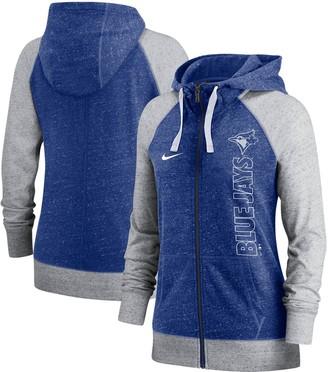 Nike Women's Royal Toronto Blue Jays In Pocket Gym Vintage Full-Zip Hoodie
