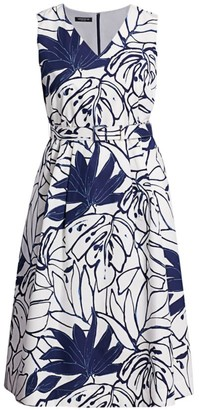 Lafayette 148 New York, Plus Size Vienna Porcelain Midi Dress